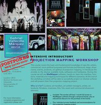 *Postponed* Intensive Introductory Projection Mapping Workshop