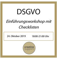 Workshop | DSGVO