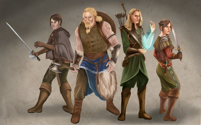 Fantasy Charakter Illustrationen