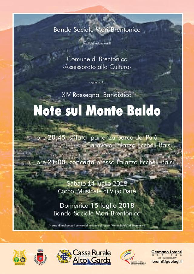 "Poster for Sommer Concerts ""Sounds on Baldo's Mountain"""