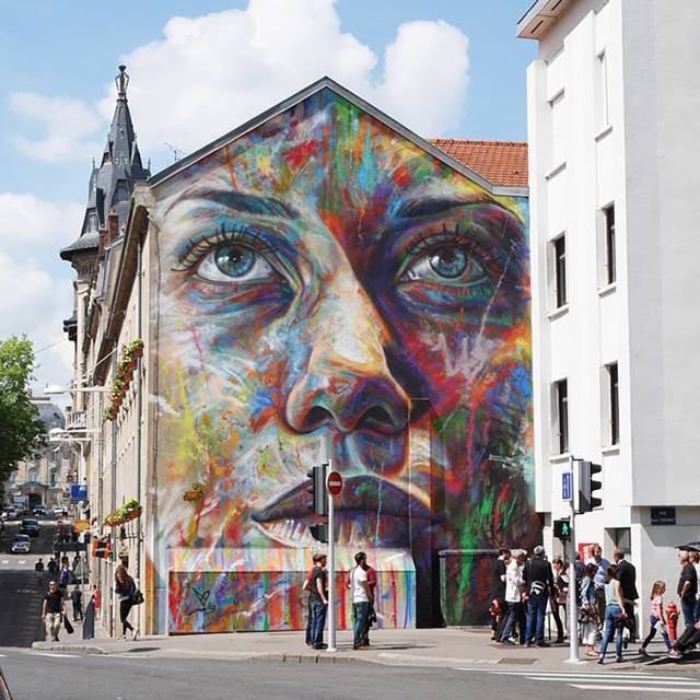 MY PORTRAITS BY THE STREET ARTIST DAVID WALKER