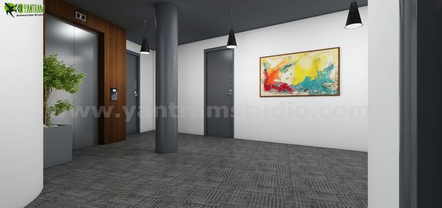Residential 3D Interior Lobby Rendering Concept Idea Melbourne