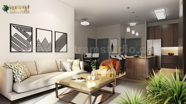 Modern Kitchen Living Room Combo