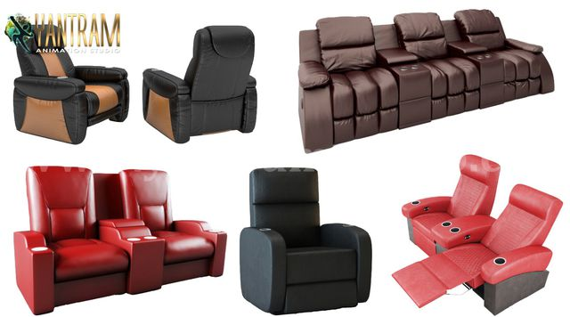 Realistic 3D Sofa Chair Modeling and Visualization Services by 3D Product Animation Studio